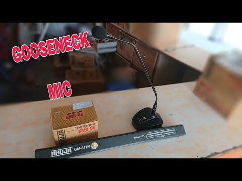 AHUJA GM-611M PA Gooseneck Microphone & GMB-6C Table Stand UNBOXING & REVIEW