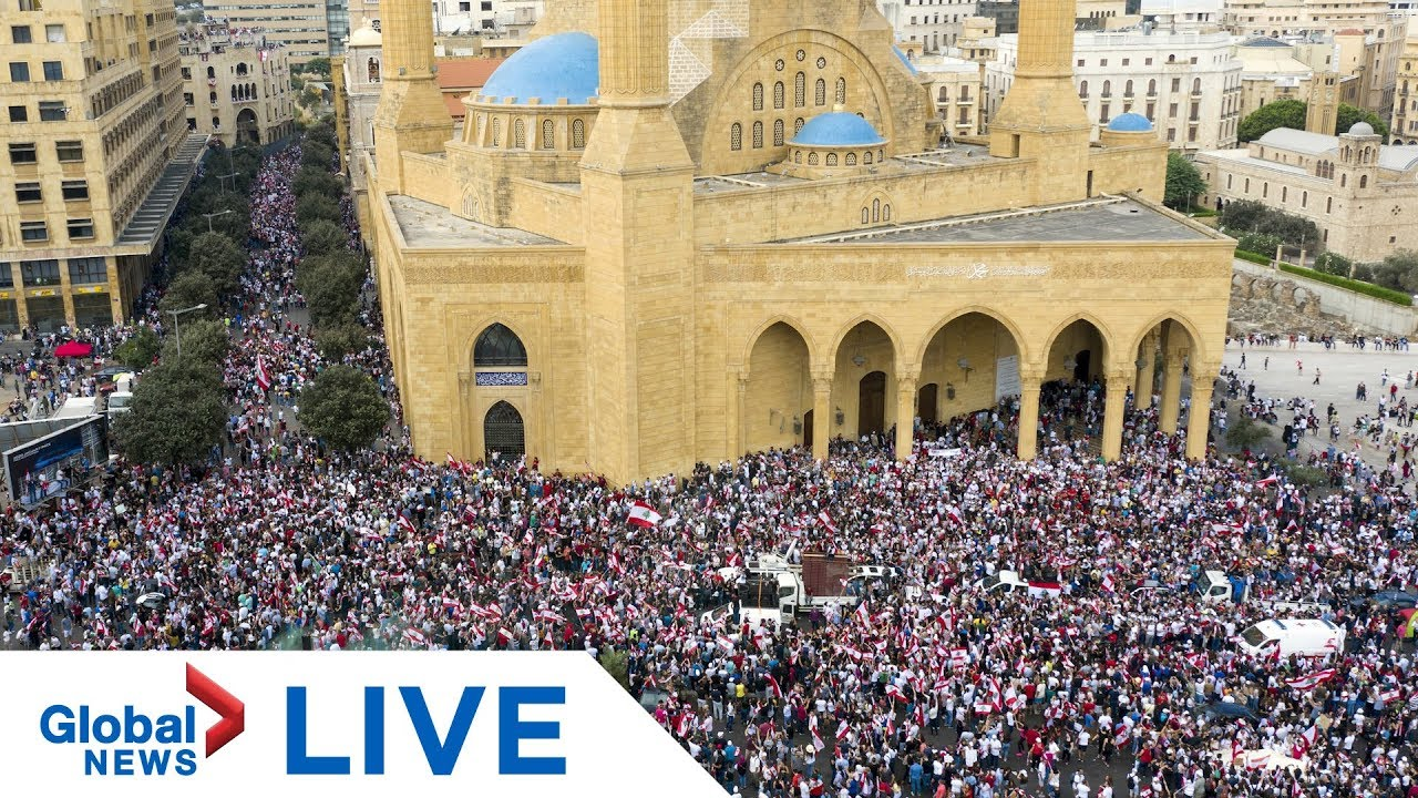 Protesters take to the streets in Beirut, Lebanon | LIVE