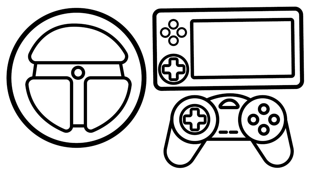 - Game Equipment Gaming Consoles Coloring Page, PS 4 Coloring Books