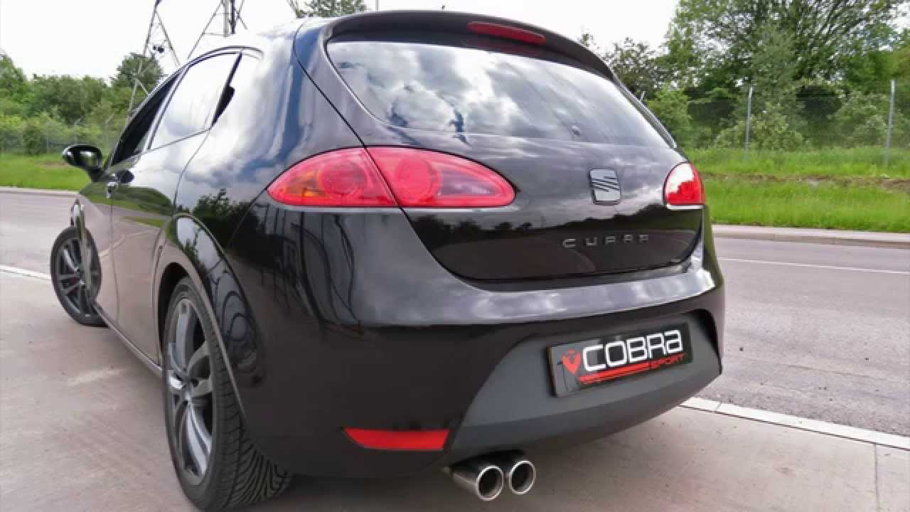 seat leon cupra 2 0fsi 240ps 2006 2013 cobra sport turbo back exhaust system youtube. Black Bedroom Furniture Sets. Home Design Ideas