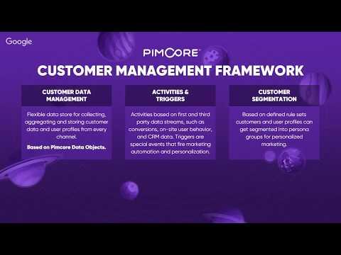 Pimcore - Customer Data Management Framework - Presentation