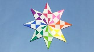 【折り紙】おしゃれな星の折り方【音声解説あり】ダイヤモンドスターの作り方 大人向け thumbnail