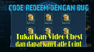 Code Redeem Mobile Legends Terbaru 2020 Battle Point II Bug Video Chest