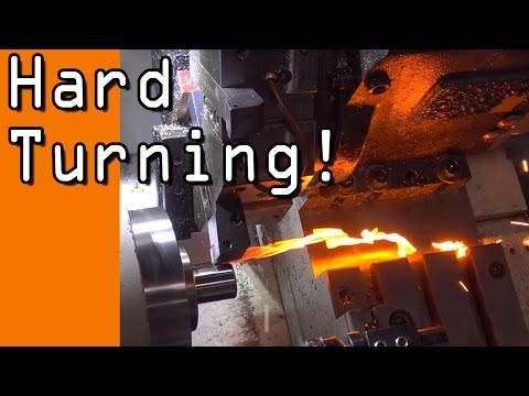 CNC Turning Hard Steel!  WW112