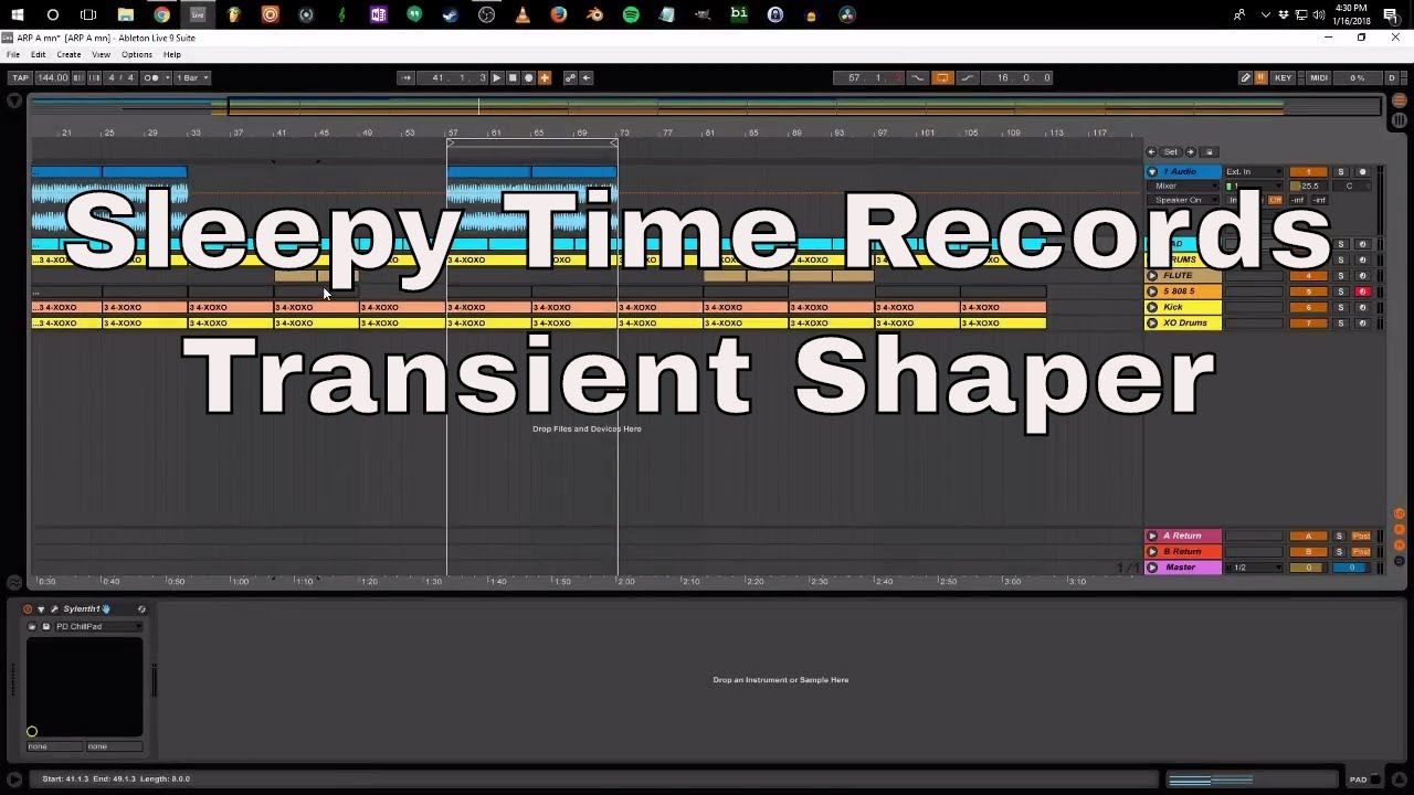 Sleepy Time Records - Transient Shaper VST Plugin