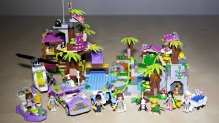 Lego Friends 41038 Jungle Rescue Base with 41036 41033 and 41032 Speed Build