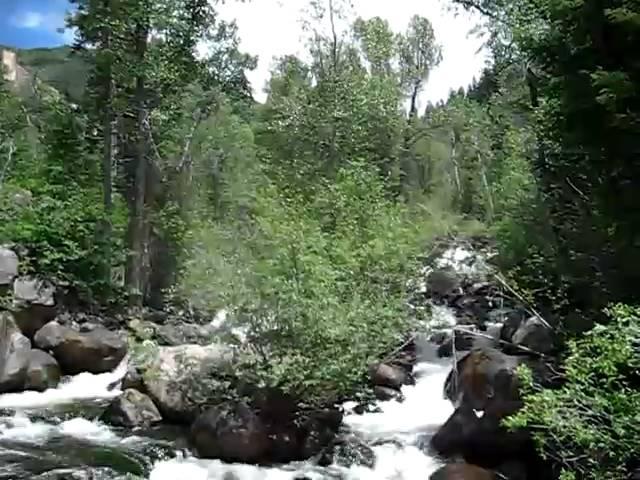 Rolling waters of Hunter Creek in Aspen Colorado
