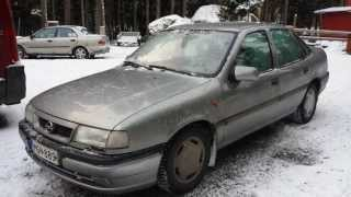 1995 Opel (Vauxhall) Vectra 2.0 CDX LHD Review: Engine Starting, Exhaust