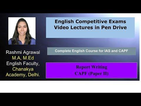 Report Writing Part 1 (CAPF Paper II)