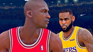 Michael Jordan vs LeBron James | NBA 2K19