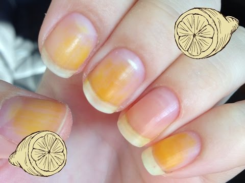 How to remove stains from your nails attempt 1 - lemons and baking soda, does it work?