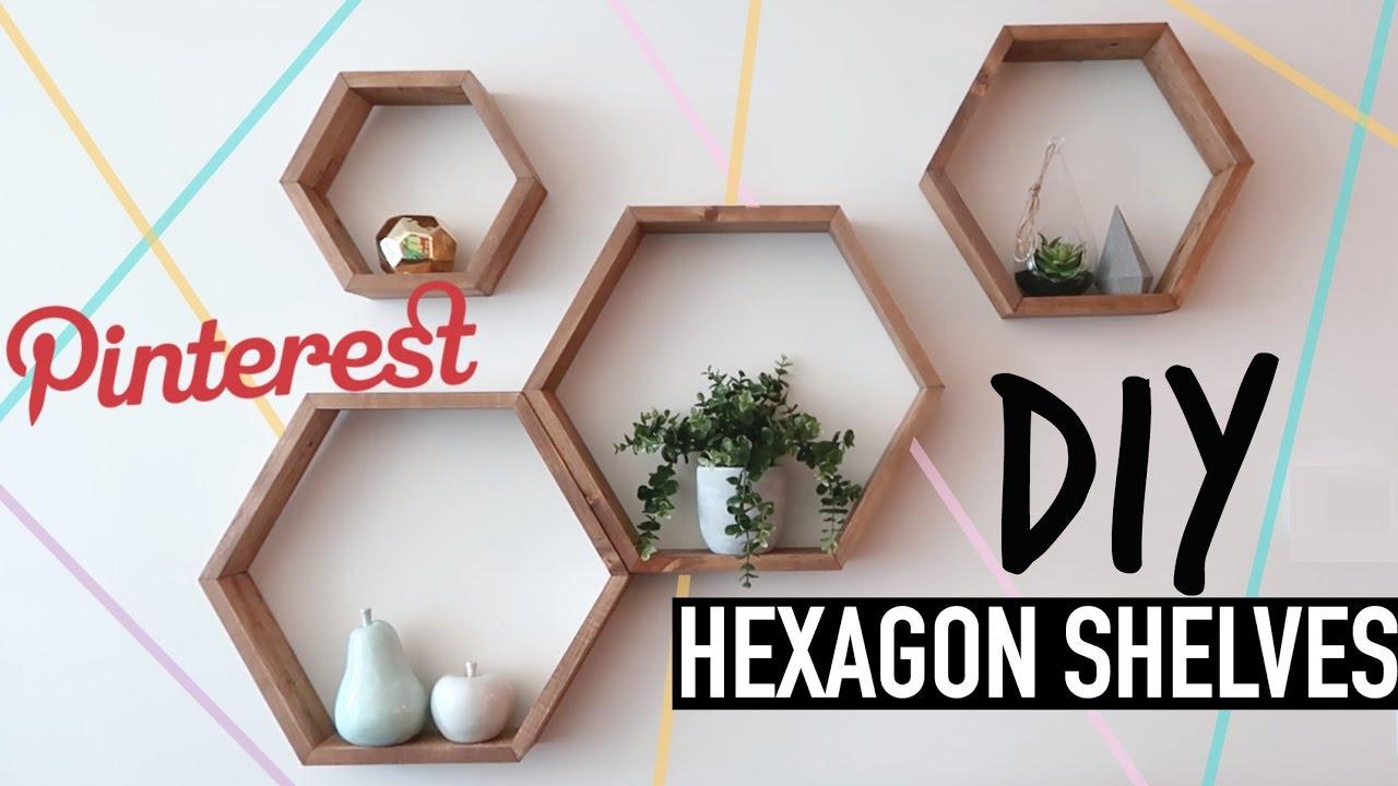Diy Pinterest Hexagon Shelves W