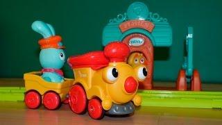 Мультфільм про паровозик і залізницю. Іграшки для дітей