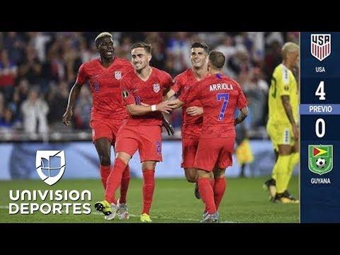 Estados Unidos 4-0 Guyana - RESUMEN Y GOLES - Grupo D- Copa Oro