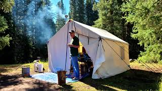 Dispersed Camping... This Tęnt Is Insane: Montana Canvas Wall Tent