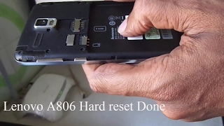 Lenovo A806 Hard reset