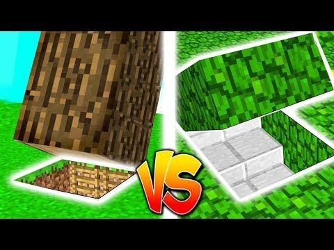 HAUS UNTER DEM BAUM gegen HAUS AUF DEM BAUM in Minecraft!