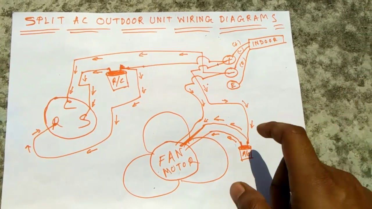 Split Ac Outdoor Unit Waring Diagram Youtube Wiring