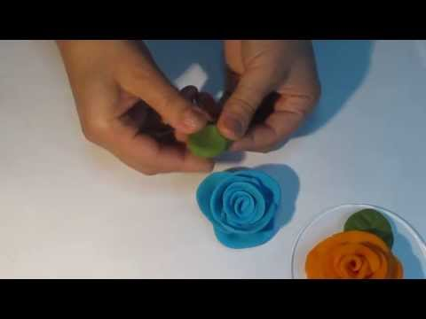 How to make a rose in plasticine