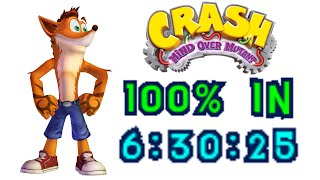 Crash Mind Over Mutant 100% Speedrun in 6:30:25