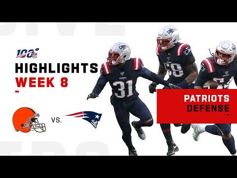 Patriots Defense Gets 5 Sacks vs. Baker   NFL 2019