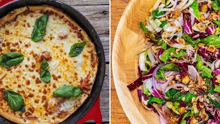 Tangy, Spicy Cast Iron Skillet Pizza + Tre Colore Salad By Rachael
