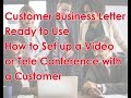 How to send formal request to customer for organizing Video or Tele Conference