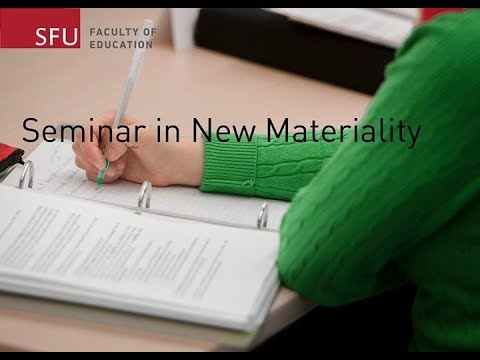 Seminar in New Materiality with Iris van der Tuin (January 22, 2018)