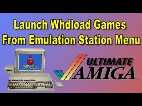 Ultimate Amiga For RetroPie Launch WHDLoad Games From ES Menu - YouTube