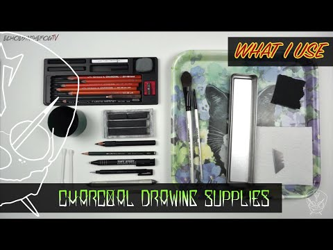 charcoal-materials-supplies-realism-realistic-drawing-pencils-what-i-use