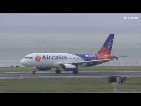 Aircalin A320 Takeoff Auckland Airport