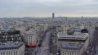 Mini footage - View from the Arc de Triomphe (Paris, France)