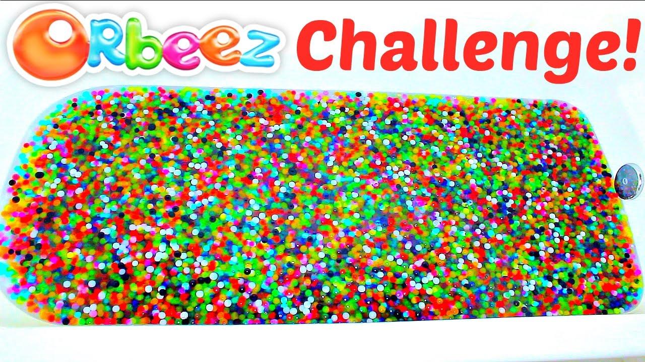 Orbeez Bath Challenge! Orbeez Filled Bathtub! - YouTube