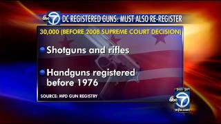 D.C. gun owners must re-register their firearms by the thousands