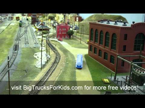 Toy Model Train Railroad for Children Video
