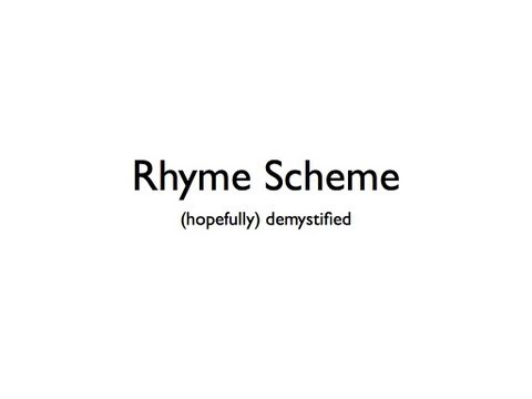 How To Find A Rhyme Scheme
