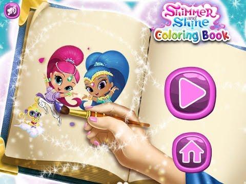 New мультики для девочек про принцесс раскраска для детей игры для детей Shimmer And Shine Col