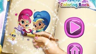 NEW мультики для девочек про принцесс—Раскраска для детей—Игры для детей/ Shimmer and Shine Col