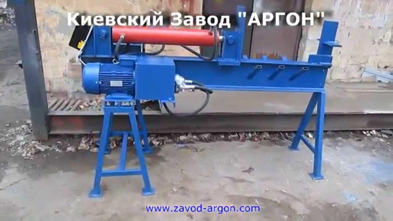 Гидравлический дровокол Алтай КГА8000 - YouTube