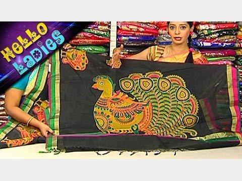Kalamkari Work Manipuri Kota & Doll Checks Design Chanderi Sarees || Hello Ladies