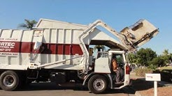 Burrtec Garbage Trucks of Rancho Cucamonga