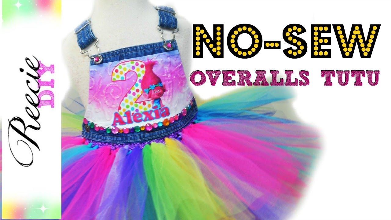 0eb2fac151 How to make a NO-SEW Overalls Tutu Dress - YouTube