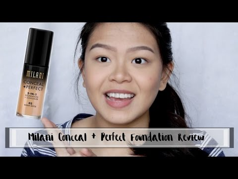 Milani Conceal and Perfect Foundation REVIEW // Philippines