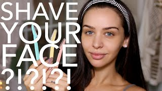 HOW I Shave My Face! Carli Bybel