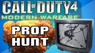 call of duty 4 prop hunt funny moments nogla scream delirious the noob and juking nogla