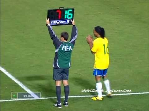 Ronaldinho last game for seleçao before WC 2010 || 1/4/2009
