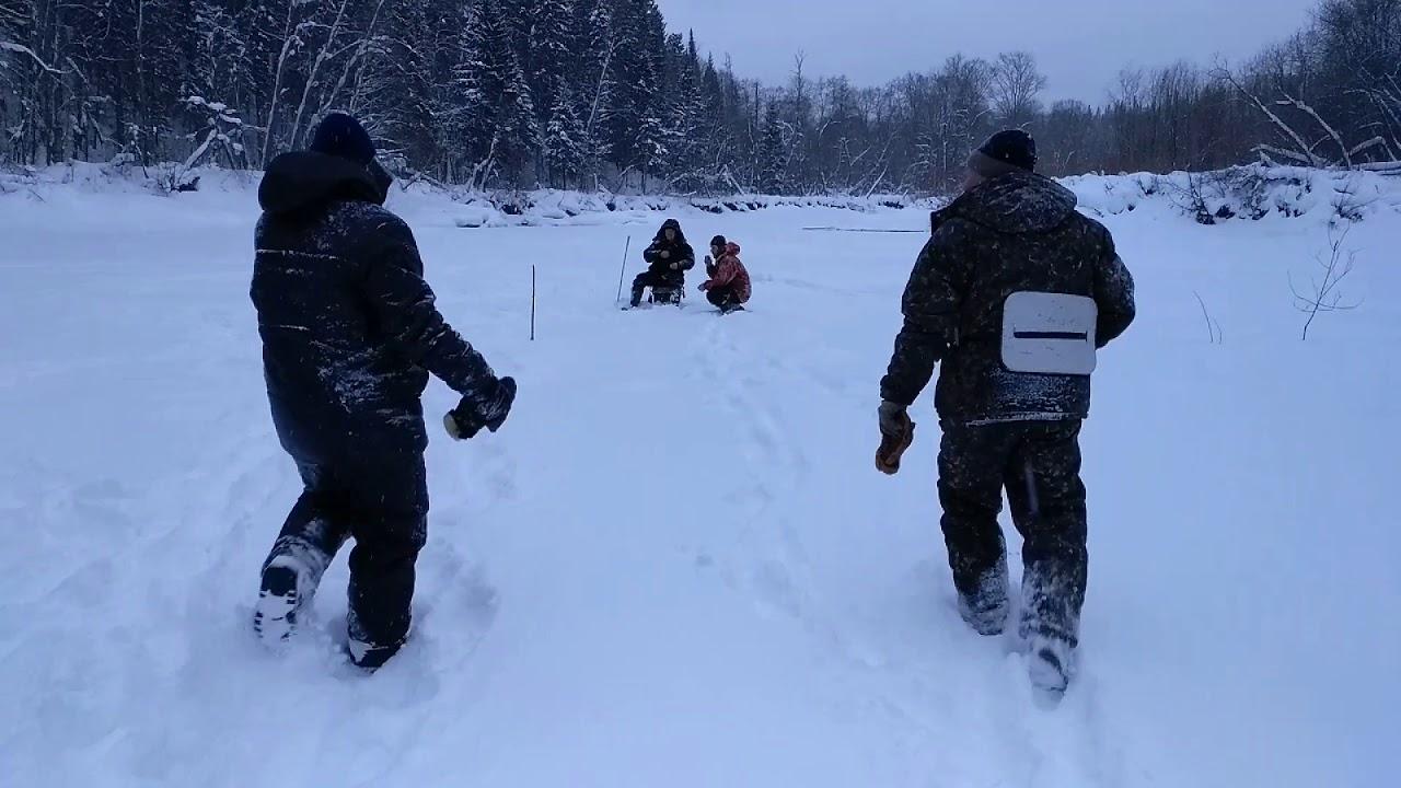 Зимняя рыбалка в январе на речке Барда ниже бывшего поселка Подсосновое