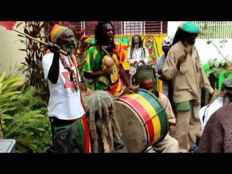 Nyabinghi Drumming and on Bob Marley Day 2013