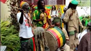 Nyabinghi Drumming and on Bob Marley Day 2013