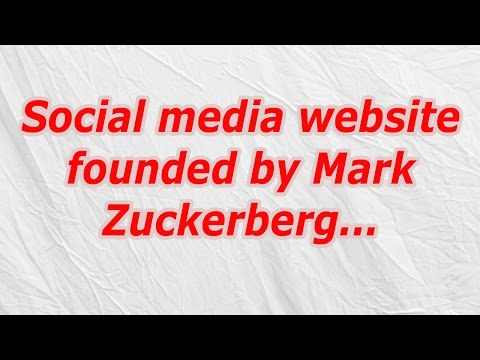 Social media website founded by Mark Zuckerberg (CodyCross Crossword Answer)